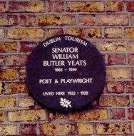 W.B. Yeats Marker