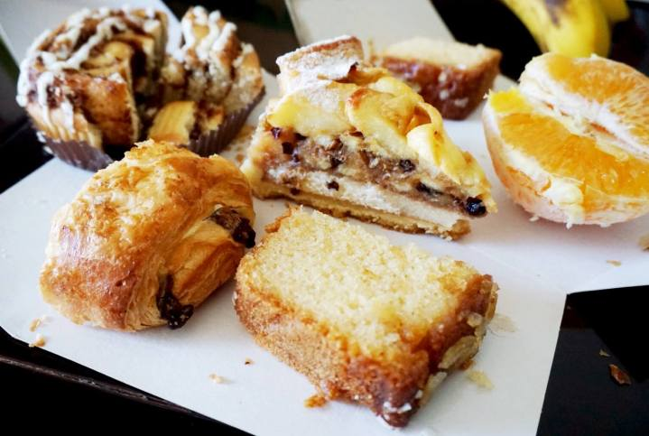 The assortment of Starbuck's pastries we had in Barcelona (quartered lemon cake pictured front)