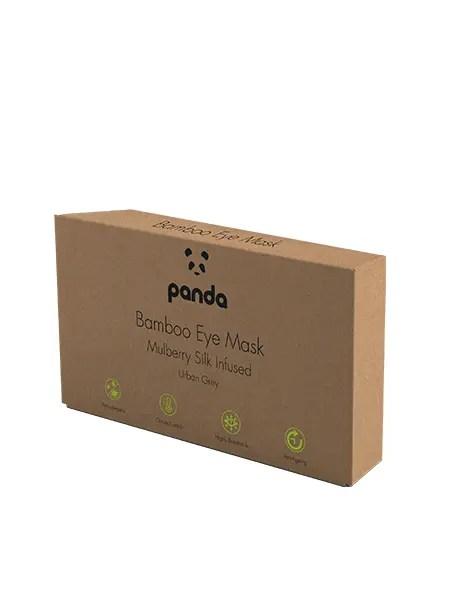Panda Bamboo Mulberry Silk Eye Mask