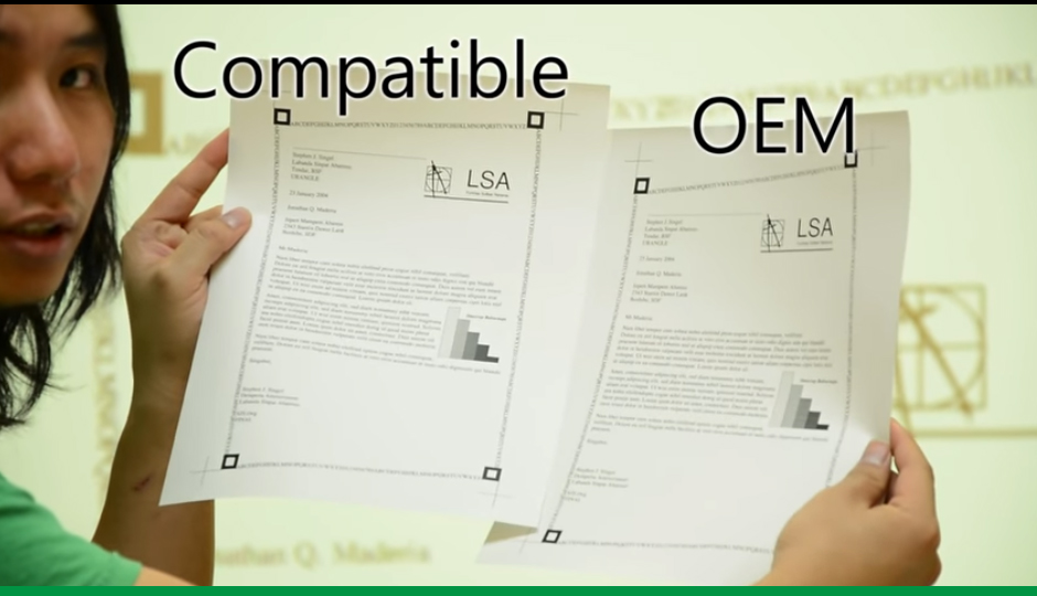 Differences between compatible toner and OEM toner