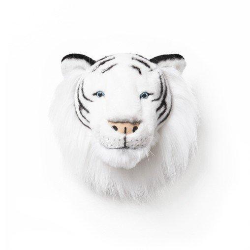 Plüsch Tierkopf-Trophäe weisser Tiger Albert