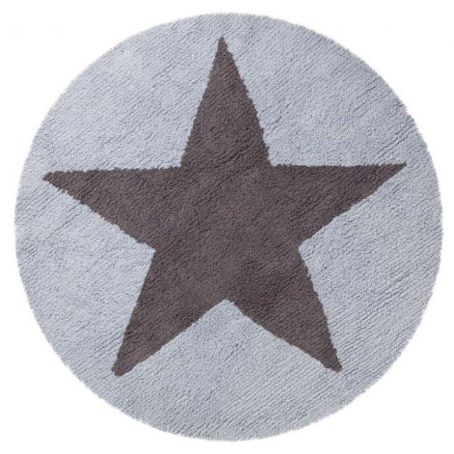 Lorena Canals Kinderteppich Wendeteppich Stars Blau Dunkelgrau 1