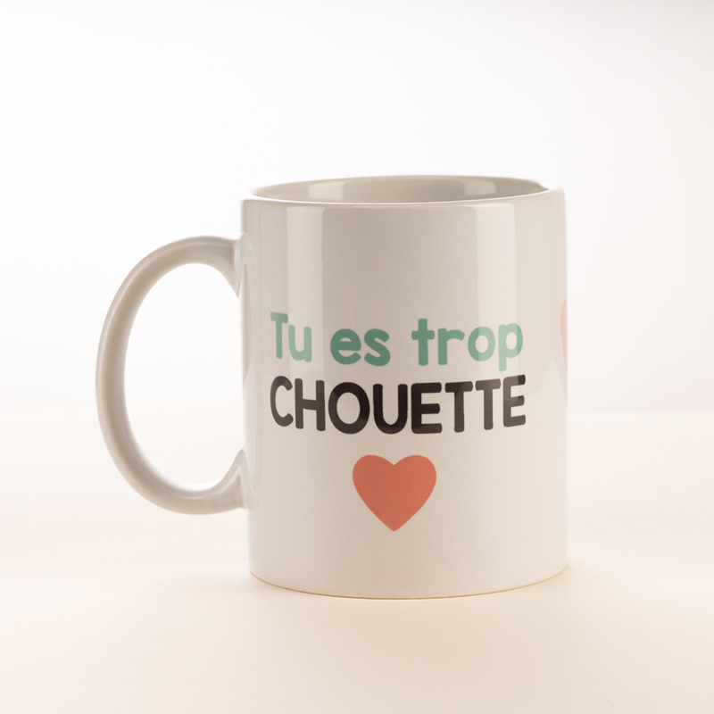 Mug pandakiwi Tu es trop Chouette