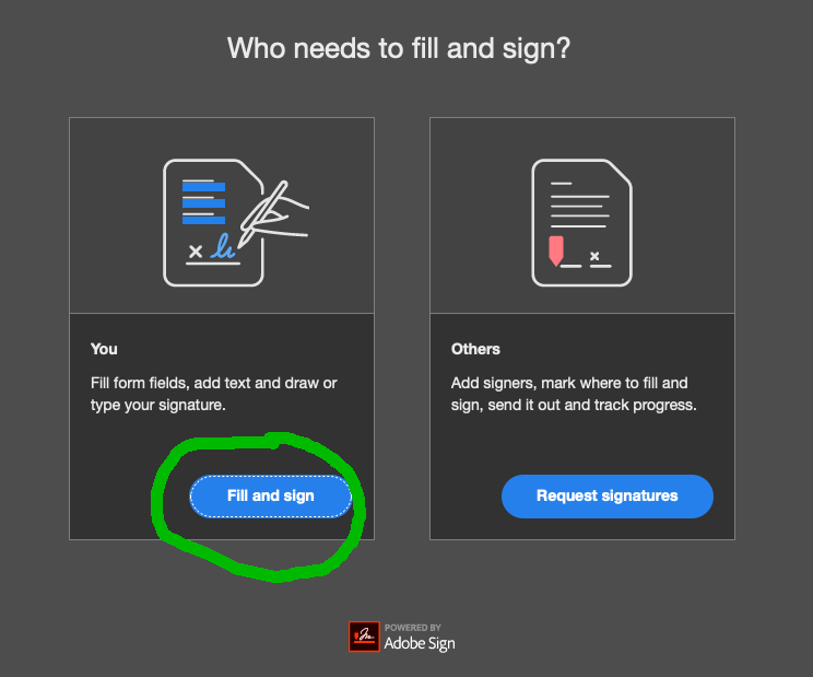 Select Fill and Sign.