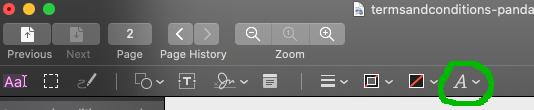 Press the font button.