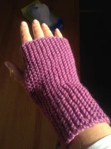 pink wrist warmer