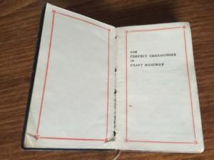 Masonic book of ceremonies