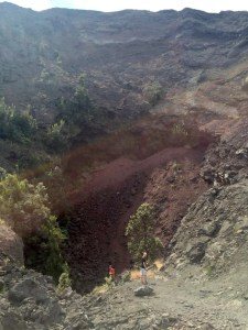 huge hole in crater