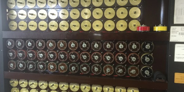 Front of a  Bombe machine