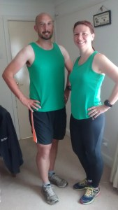Caity and Colin in their Littleport Runners tops