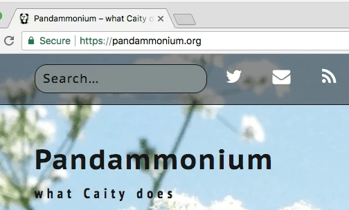 screenshot of front page showing secure URL in Chrome