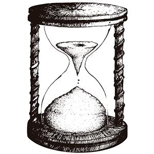 Reloj de arena - Ilustración en vectores