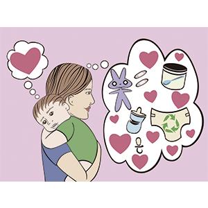 Día de las madres mucho amor - Ilustración digital
