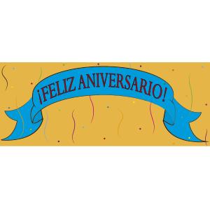Banner de aniversario - Ilustración en vectores