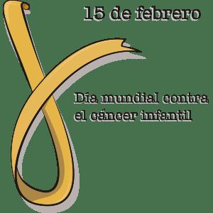 Listón amarillo (Día contra el cáncer infantil) - Ilustración en vectores
