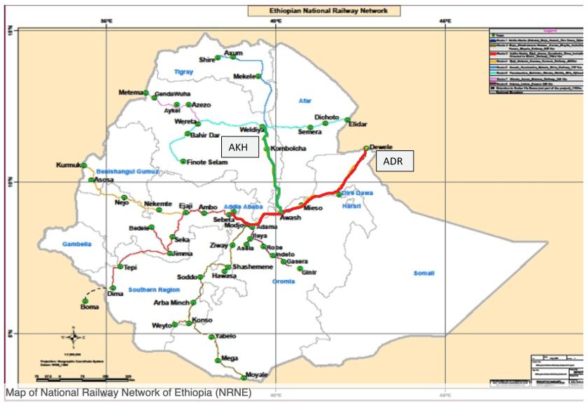 Ethiopia railmap