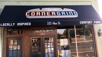 CornerGrind Logo (on awning)