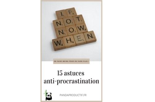 15 astuces anti-procrastination