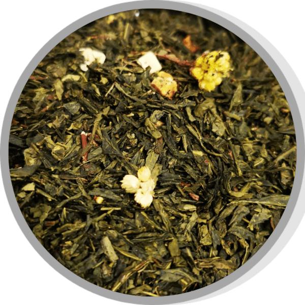 thé vert gingembre orange