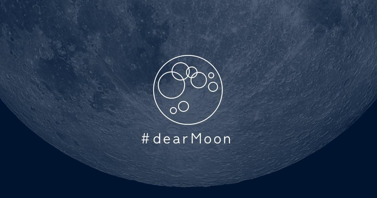 dearmoon project poster by Yusaku Maezawa
