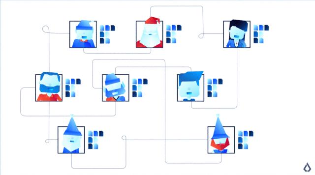 North pole blockchain depiction