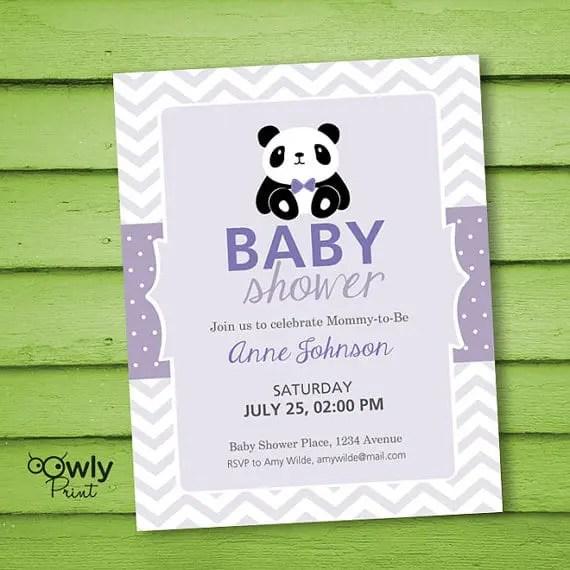 Panda Baby Shower Invitation