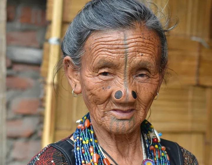 Apatani-tribe-woman-Ziro-Arunachal-Pradesh-India