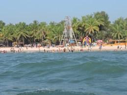 Malpe beach as seen from the ferry