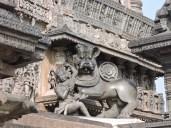 Hoysala emblem- Sala slaying a lion