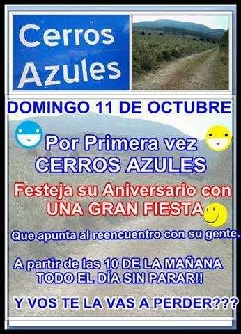 Cerros Azules celebra su aniversario 1