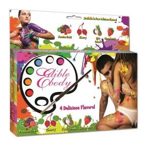 Edible Body Paint and Stencil Kit