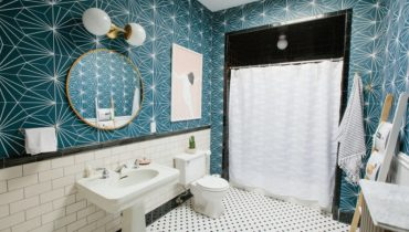 best bathroom wallpaper ideas