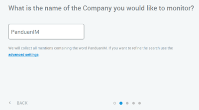 Mention company name