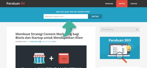 Optin homepage