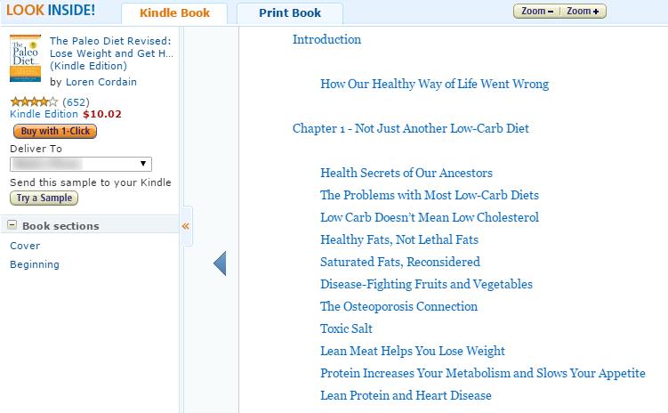 Daftar isi buku Amazon