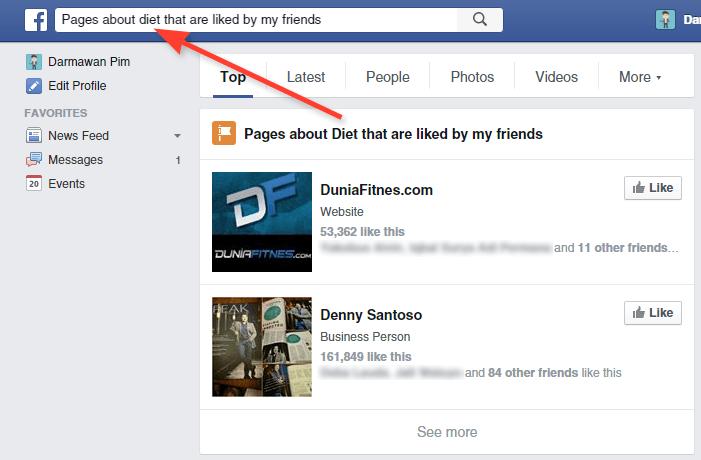 Mencari page saingan di Facebook