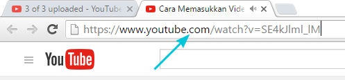 Copy URL dari Youtube