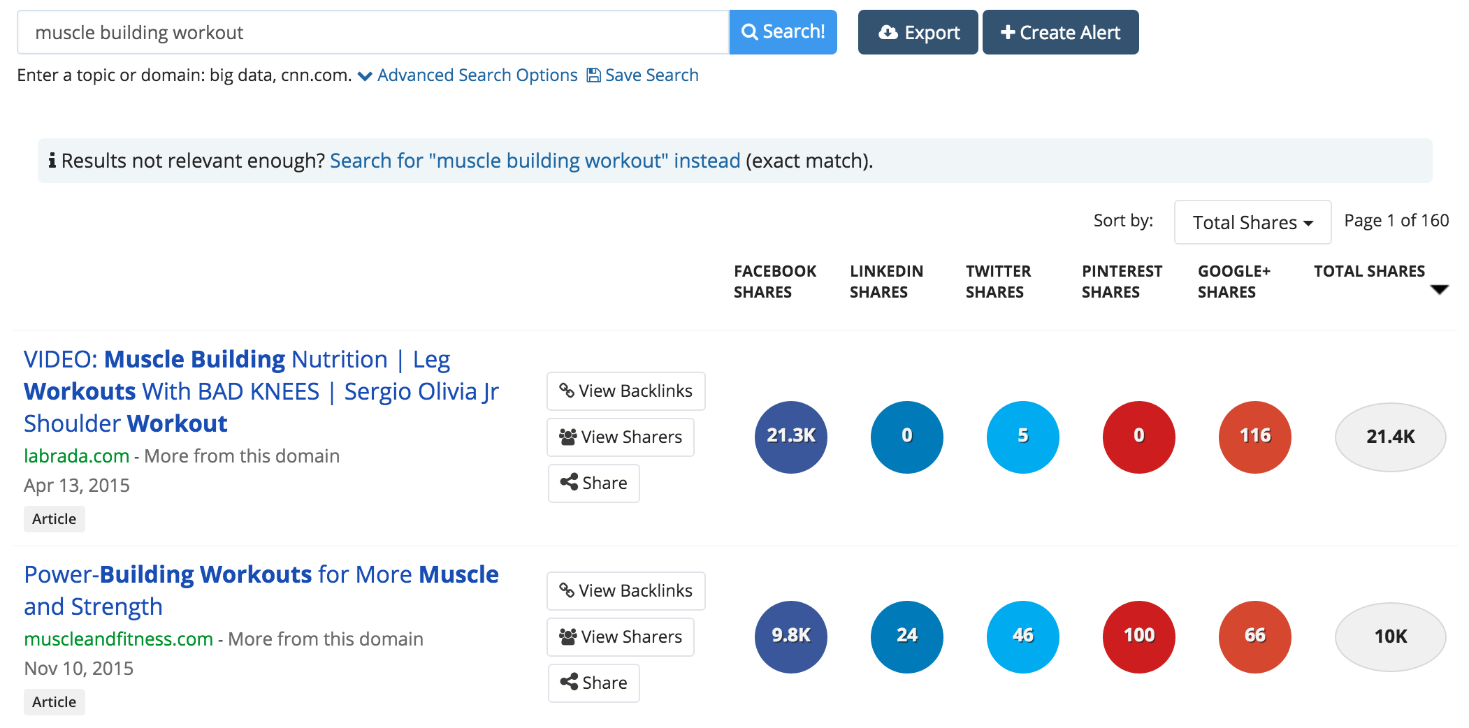 Search complementary articles on buzzsumo