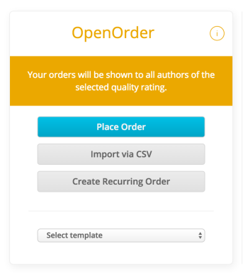 Open order textbroker
