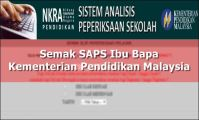 SAPS Online Sistem Analisis Peperiksaan Sekolah Semakan Ibu Bapa