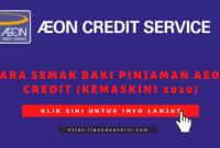 Cara semak baki pinjaman Eon Credit