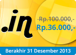 Promo Domain dot in murah