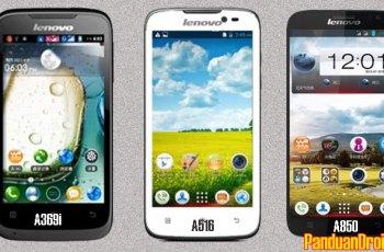 Lenovo A369i, Lenovo A516, dan Lenovo A850