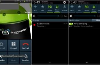 Aplikasi Android, Rekam Telepon