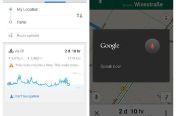 Google Maps, Google Now, Voice Control