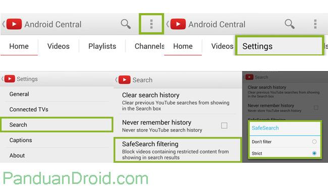 Cara Membatasi Pencarian Di Youtube Tip Trik Panduan Android Indonesia