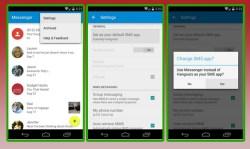 Cara menginstall aplikasi messenger Android L di Android Kitkat