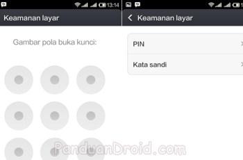 Xiaomi Redmi 1S, Pola kunci, Mengunci Smartphone