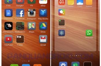 ikon, shortcut, aplikasi android, home screen, xiaomi redmi 1s