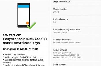 Sony , Xperia Z3 , Xperia Z3 Compat, Android 6.0 Marshmallow